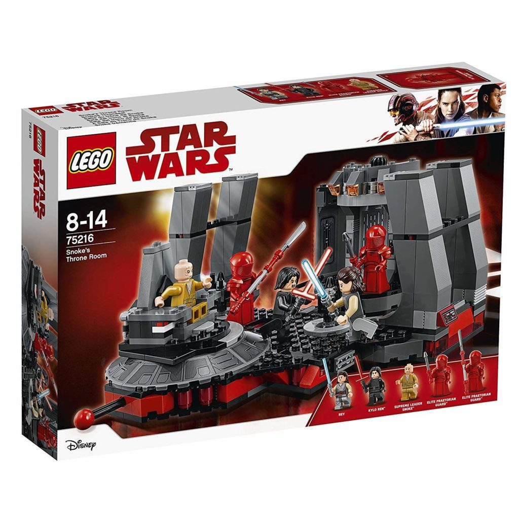 LEGO® Star Wars™ Snokes Thronsaal (75216) Packung Vorderseite | ©2018 LEGO Gruppe
