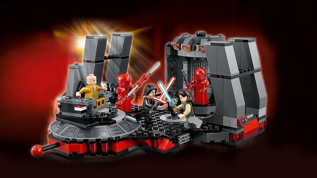 LEGO® Star Wars™ Snokes Thronsaal (75216) mit Hintergrund | ©2018 LEGO Gruppe
