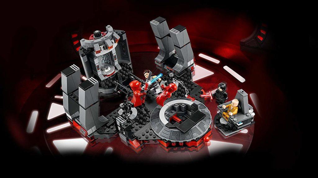 LEGO® Star Wars™ Snokes Thronsaal (75216) von oben mit Hintergrund | ©2018 LEGO Gruppe