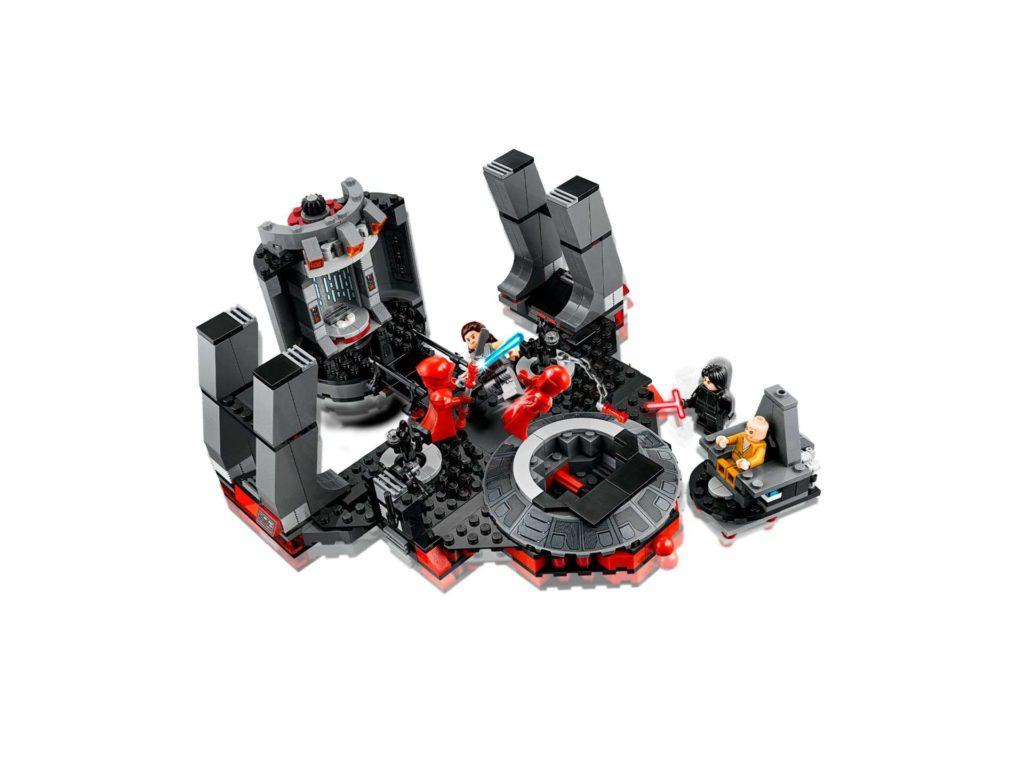 LEGO® Star Wars™ Snokes Thronsaal (75216) Set von schräg oben | ©2018 LEGO Gruppe