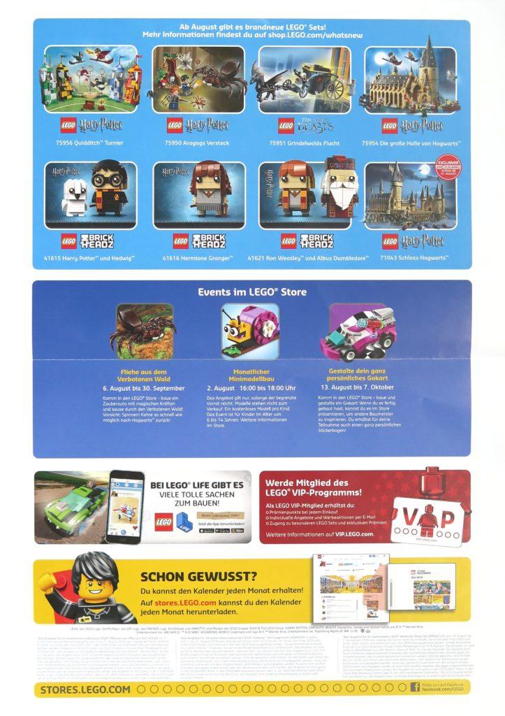 LEGO Store Kalender August 2018 - Rückseite