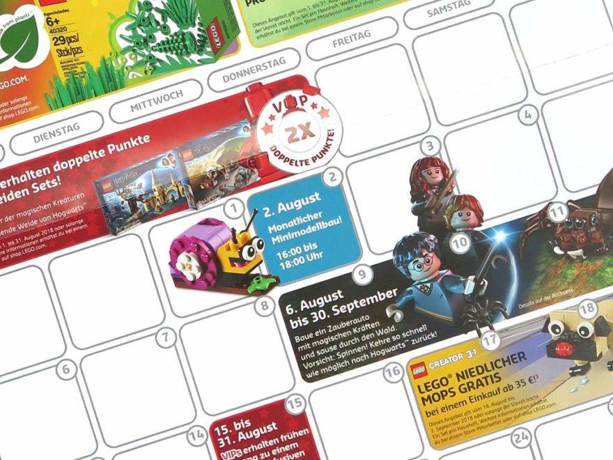 LEGO Store Kalender August 2018 - Titelbild