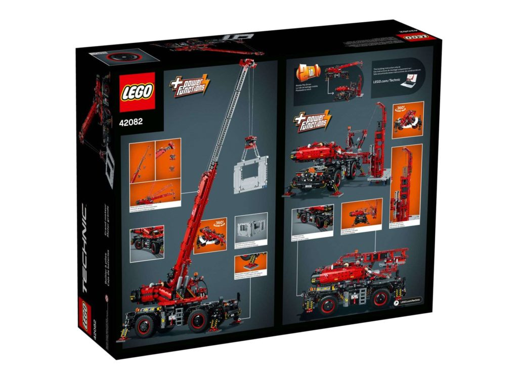 LEGO Technic Geländegängiger Kranwagen (42082) - Packung Rückseite | ®LEGO Gruppe