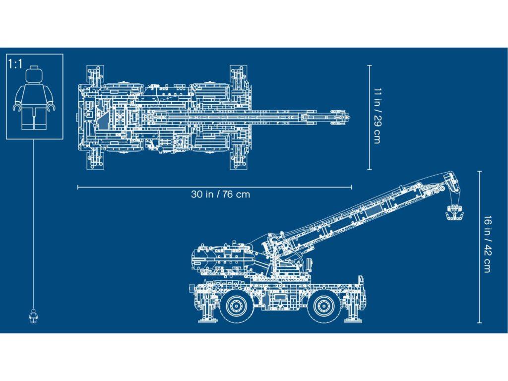LEGO Technic Geländegängiger Kranwagen (42082) - Blue Print | ®LEGO Gruppe