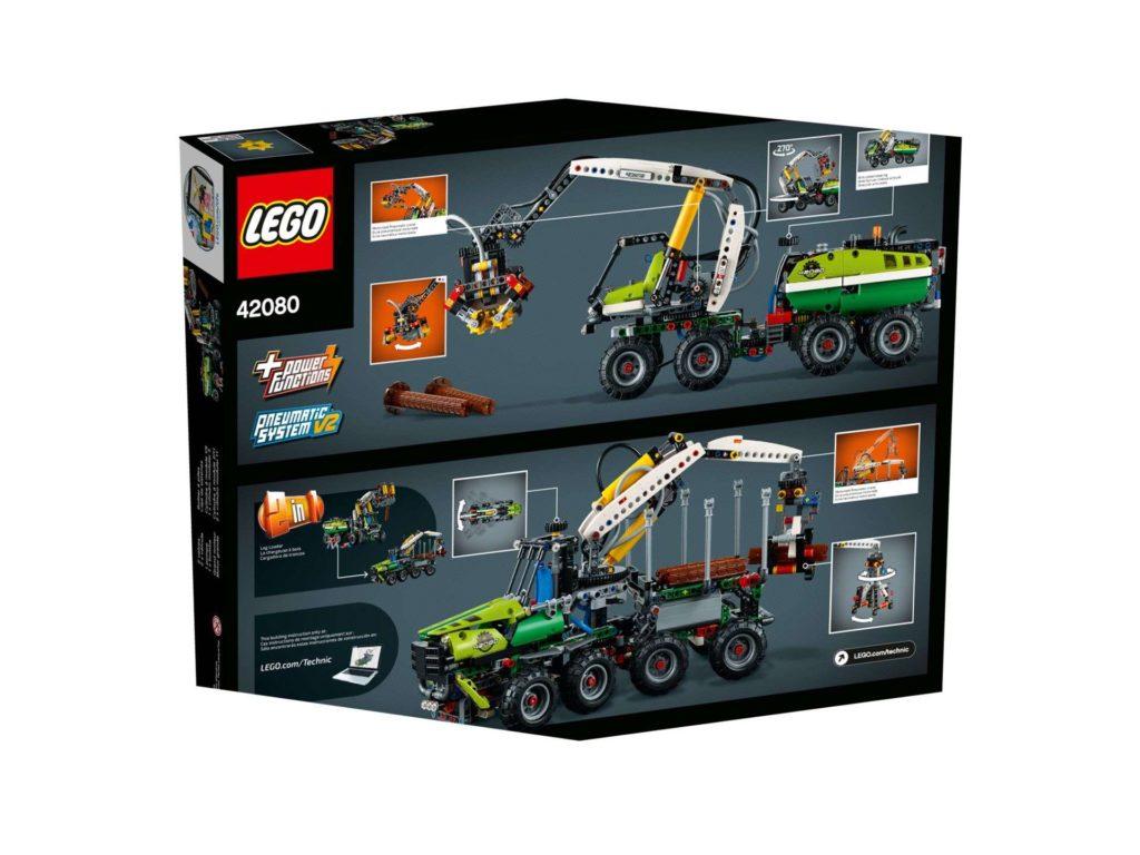 LEGO Technic Harvester Forstmaschine (42080) - Packung Rückseite | ®LEGO Gruppe