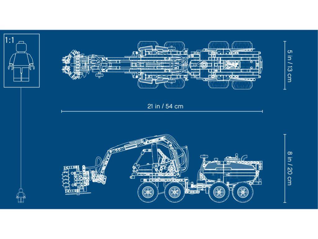 LEGO Technic Harvester Forstmaschine (42080) - Blueprint | ®LEGO Gruppe