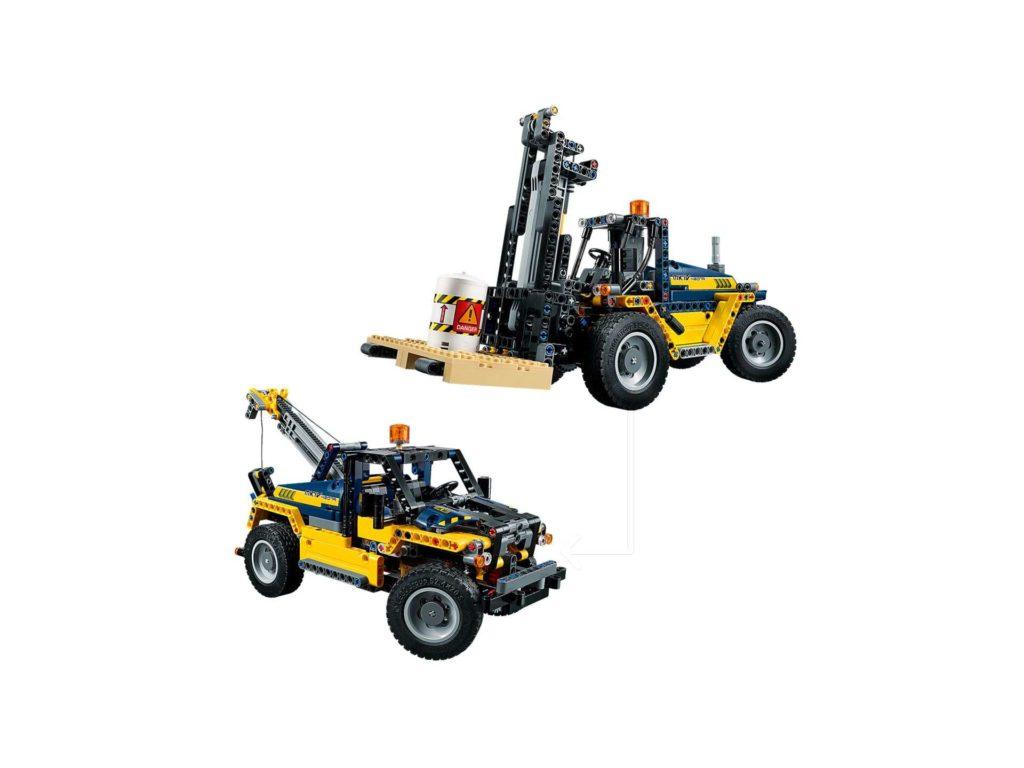 LEGO Technic Schwerlast Gabelstapler (42079) - beide Modelle | ®LEGO Gruppe