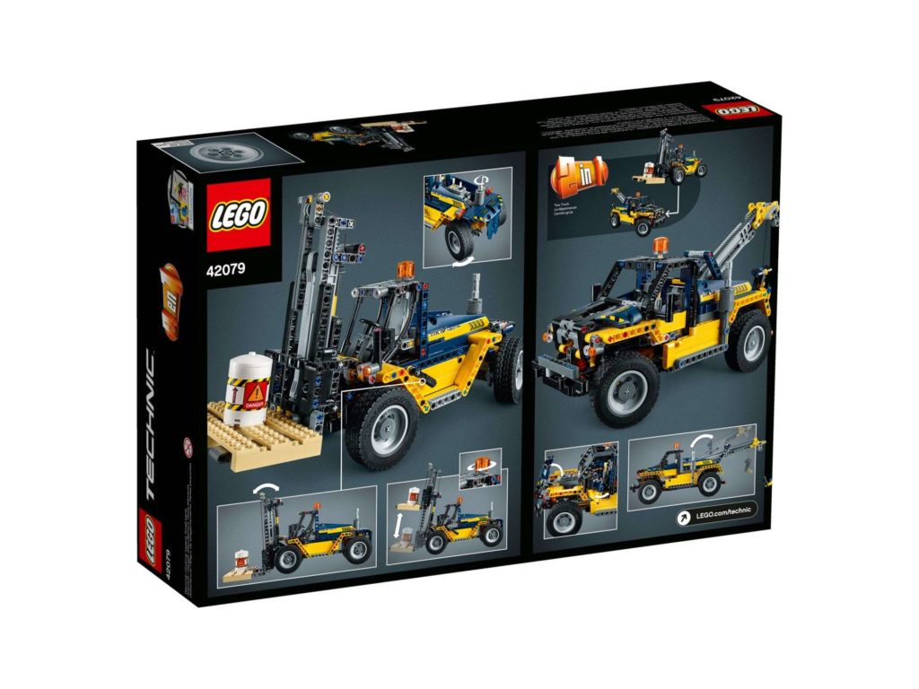 LEGO Technic Schwerlast Gabelstapler (42079) - Rückseite Packung | ®LEGO Gruppe