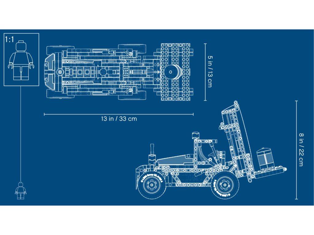 LEGO Technic Schwerlast Gabelstapler (42079) - Blueprint | ®LEGO Gruppe