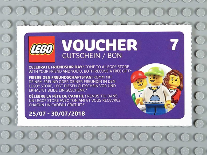 LEGO© Wandkalender 2018 - Gutschein Nr. 7