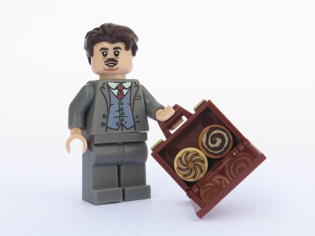 LEGO 71022 - Minifigur 19 - Jakob Kowalski mit Koffer und Backwaren | ©2018 Brickzeit