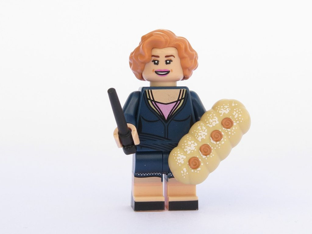 LEGO 71022 - Minifigur 20 - Queenie Goldstein mit Backwaren | ©2018 Brickzeit