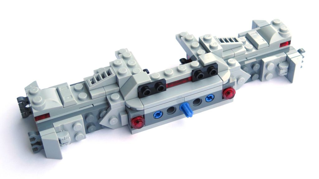 LEGO® 75211 Imperial TIE Fighter - Bauabschnitt 1 - Fertig, Rückseite | ©2018 Brickzeit