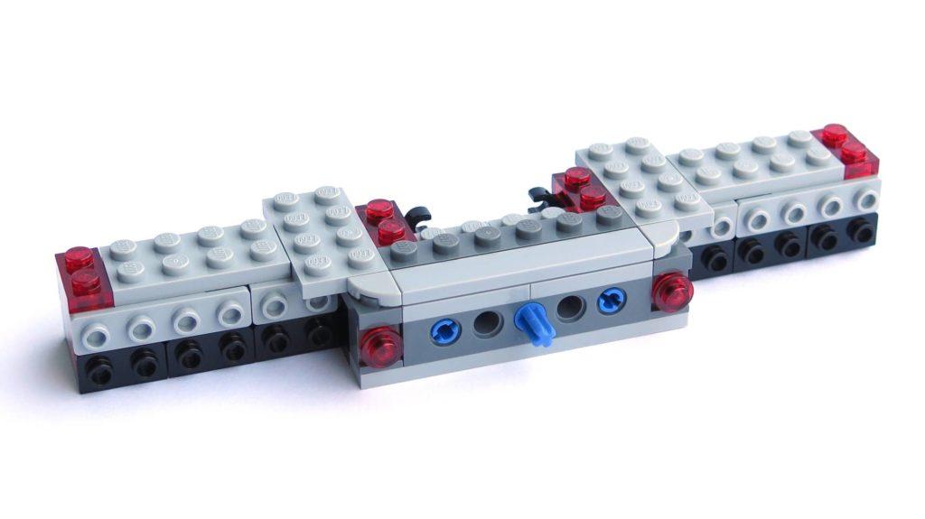 LEGO® 75211 Imperial TIE Fighter - Bauabschnitt 1 - nach Schritt 19 - Rückseite | ©2018 Brickzeit