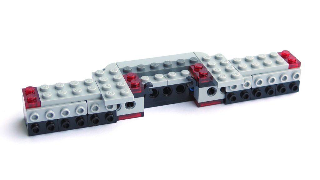 LEGO® 75211 Imperial TIE Fighter - Bauabschnitt 1 - nach Schritt 19 | ©2018 Brickzeit
