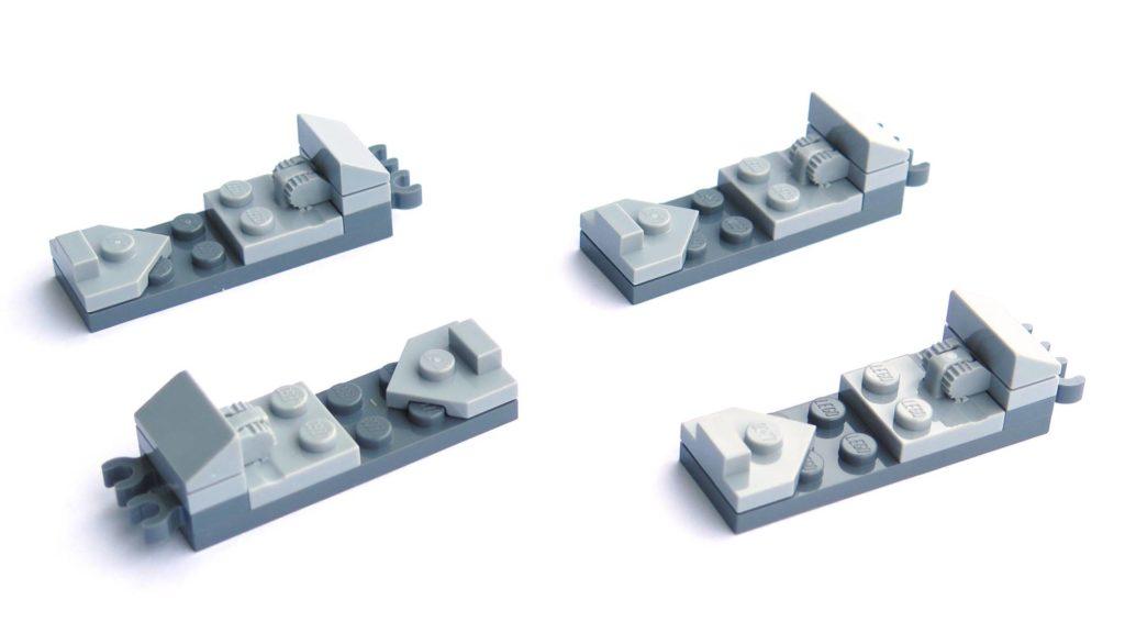 LEGO® 75211 Imperial TIE Fighter - Bauabschnitt 1 - Zierplatten | ©2018 Brickzeit