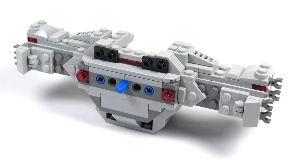 LEGO® 75211 Imperial TIE Fighter - Bauabschnitt 2 - Cockpit ohne Dach, Rückseite | ©2018 Brickzeit