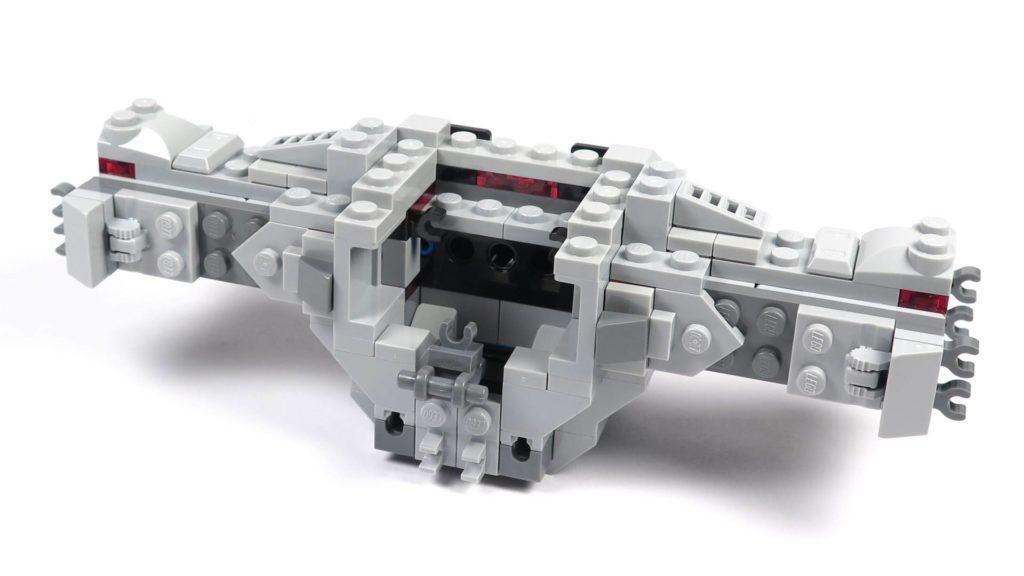 LEGO® 75211 Imperial TIE Fighter - Bauabschnitt 2 - Cockpit ohne Dach, Vorderseite | ©2018 Brickzeit