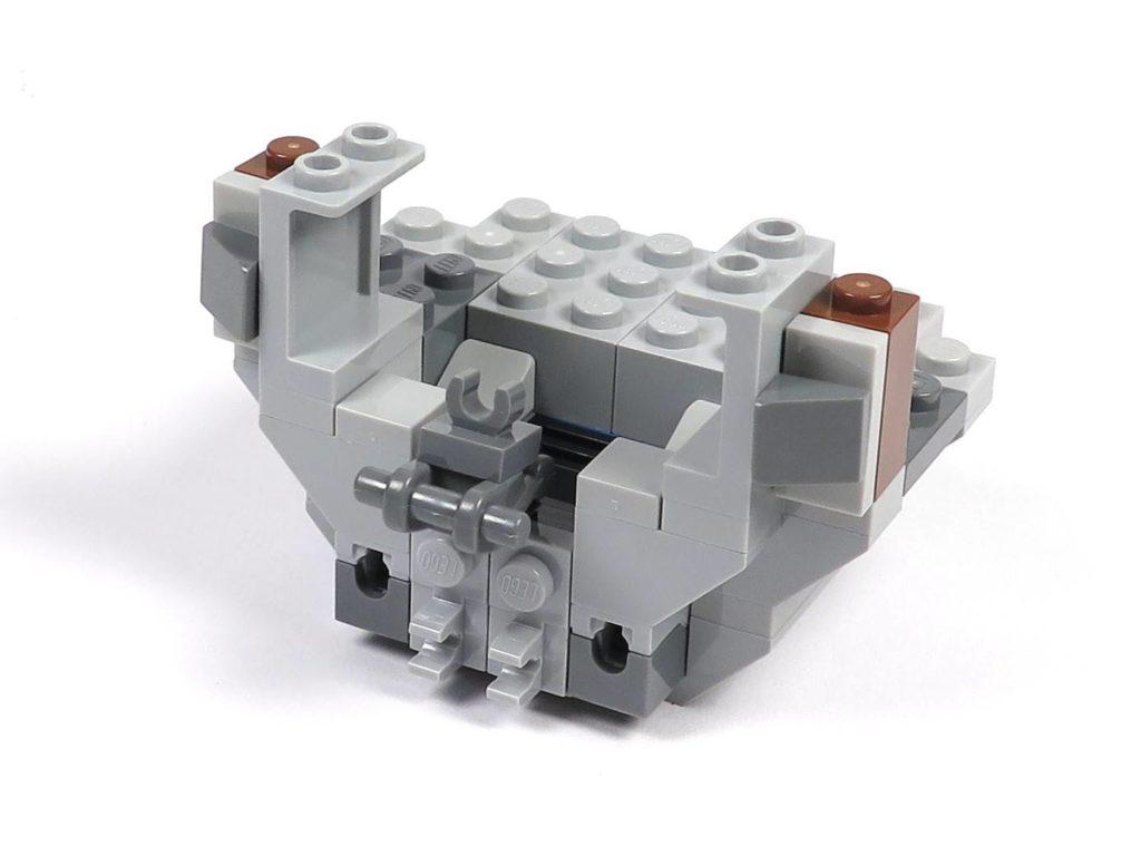 LEGO® 75211 Imperial TIE Fighter - Bauabschnitt 2 - Cockpit unterer Teil, Vorderseite | ©2018 Brickzeit