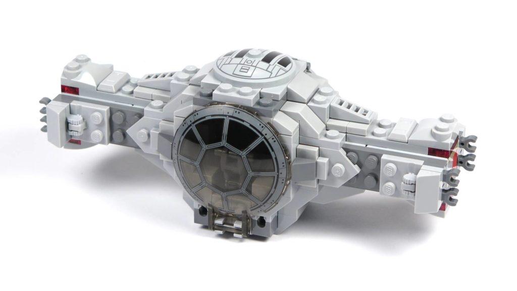 LEGO® 75211 Imperial TIE Fighter - Bauabschnitt 2 - fertige Vorderseite | ©2018 Brickzeit