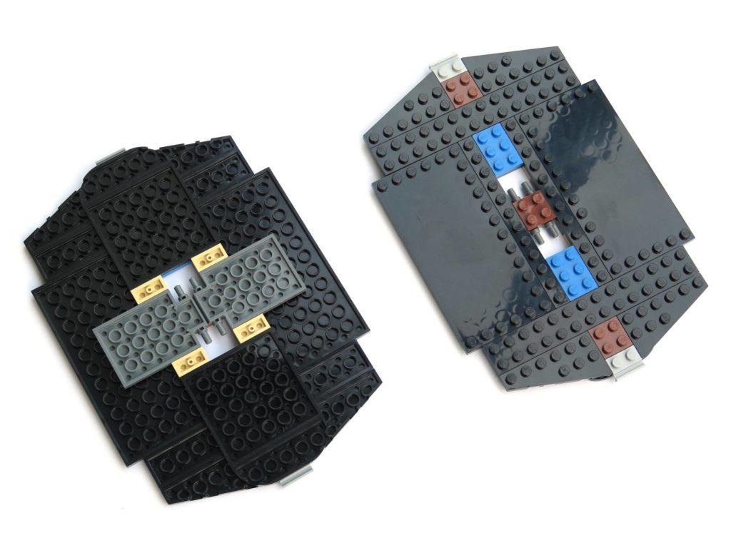 LEGO® 75211 Imperial TIE Fighter - Bauabschnitt 3 - Grundgerüst der Flügel oben und unten | ©2018 Brickzeit