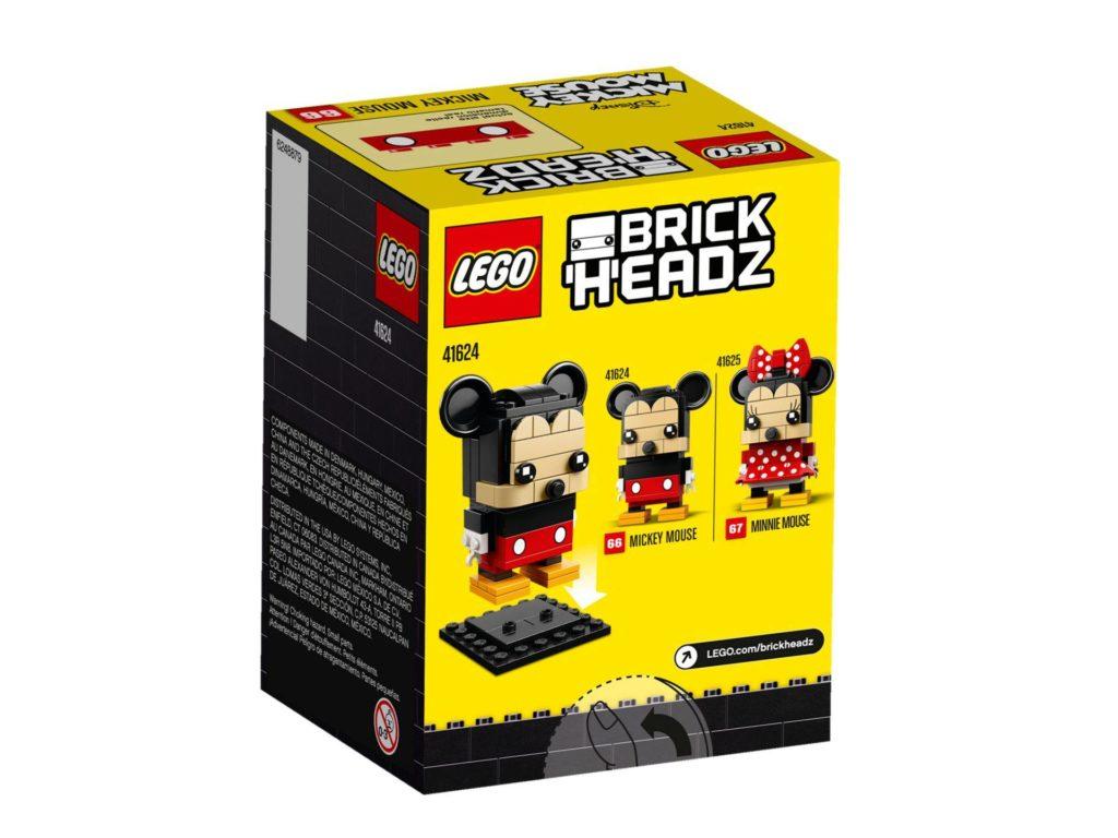 LEGO® Brickheadz Micky Maus 41624 - Packung Rückseite | ©2018 LEGO Gruppe