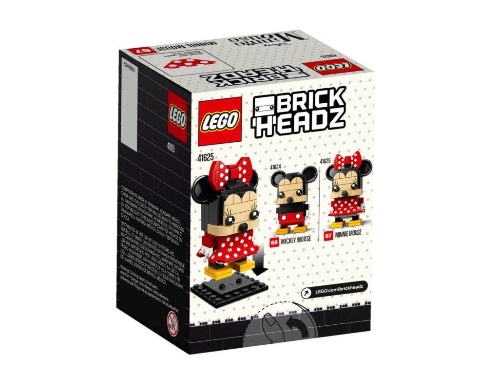 LEGO® Brickheadz Minnie Maus 41625 - Packung Rückseite | ©2018 LEGO Gruppe