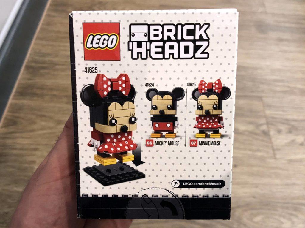 LEGO® Brickheadz Minnie Mouse 41625 - Packung Rückseite | ©2018 Brickzeit