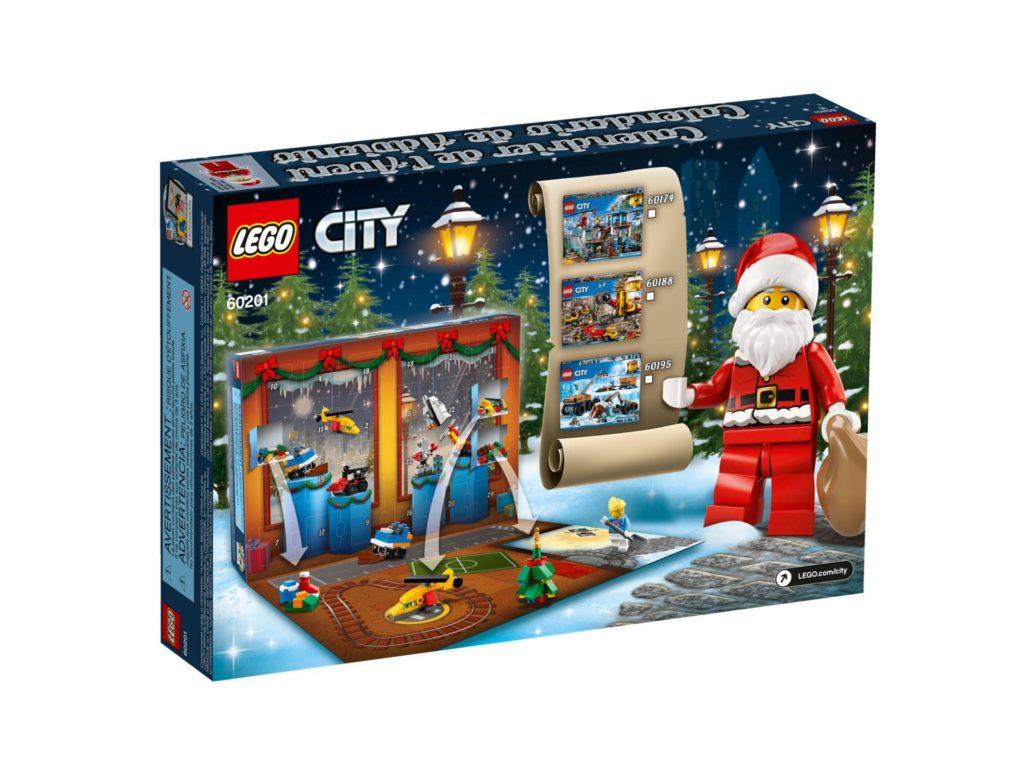 LEGO® City Adventskalender 2018 (60201) - Packung Rückseite | ©LEGO Gruppe