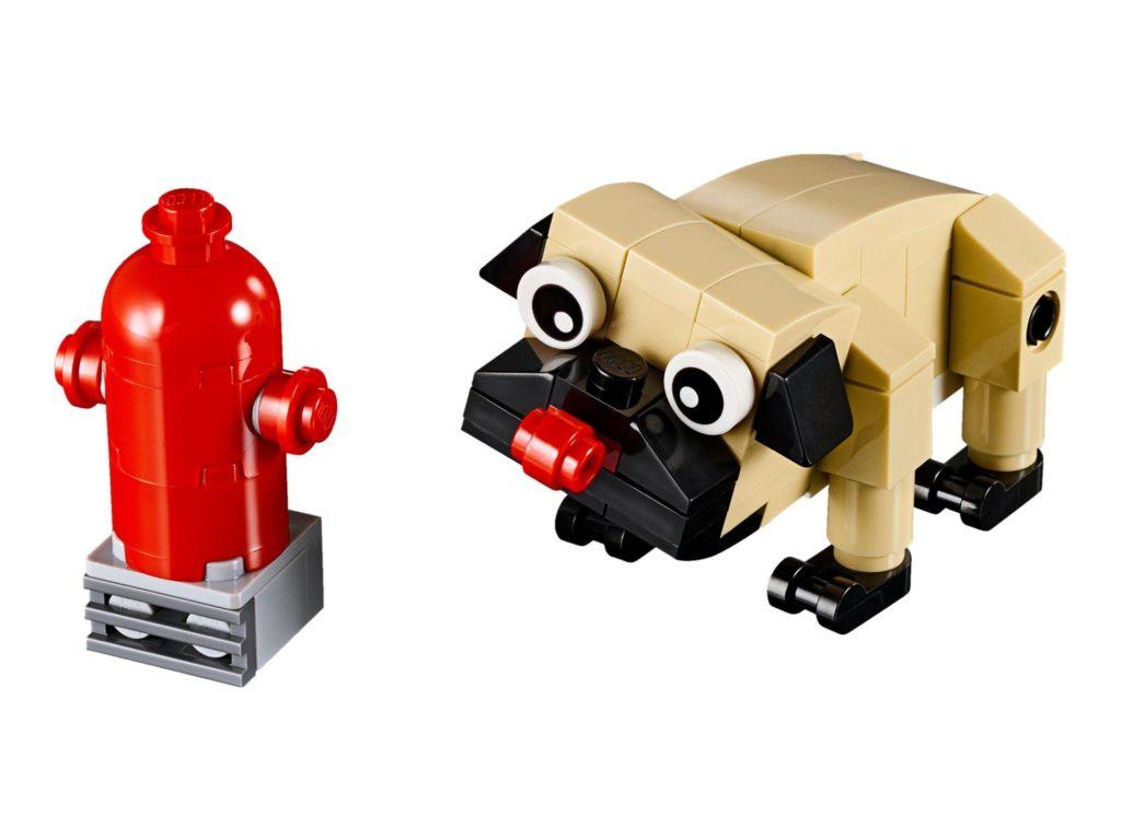 LEGO® Creator 3-in-1 Niedlicher Mops (30542) - Hund und Hydrant | ©2018 LEGO Gruppe