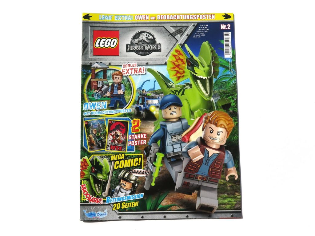 LEGO® Jurassic World Magazin Nr. 2 - Cover ohne Polybag | ©2018 Brickzeit