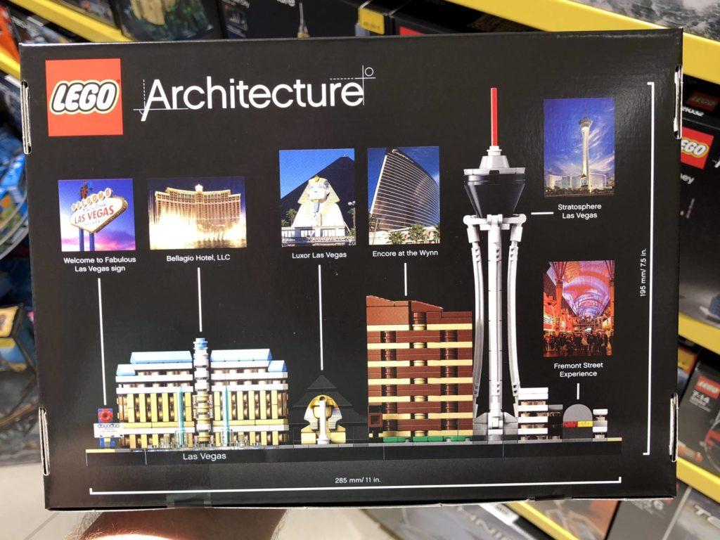 LEGO® Architecture Las Vegas 21047 - Packung Rückseite | ©2018 Brickzeit