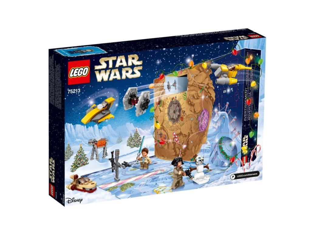 LEGO® Star Wars™ Adventskalender 2018 (75213) - Packung Rückseite | ©LEGO Gruppe