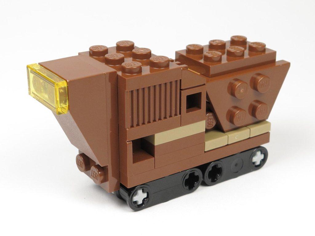 LEGO® Star Wars™ Comic 11 - Sandcrawler - links vorne | ©2018 Brickzeit
