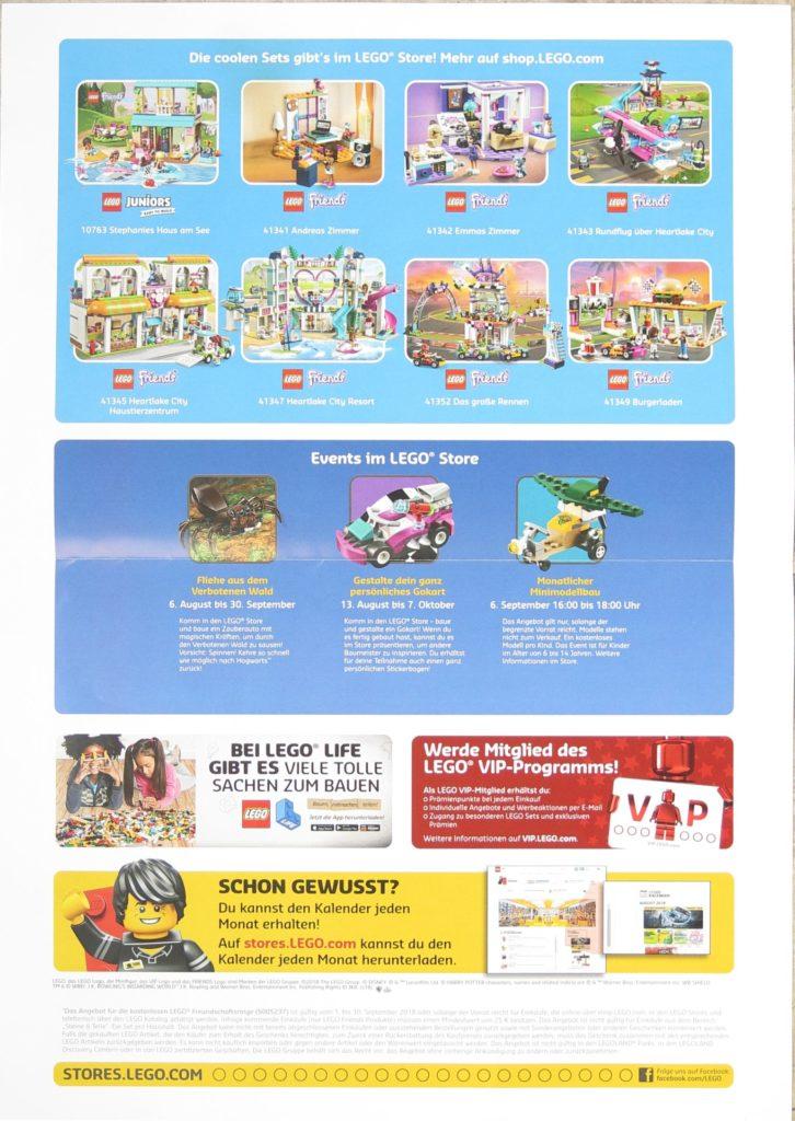 LEGO Store Kalender September 2018 - Rückseite | ©LEGO Gruppe