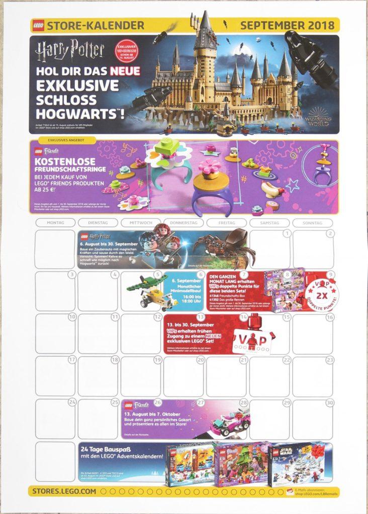 LEGO Store Kalender September 2018 - Vorderseite | ©LEGO Gruppe
