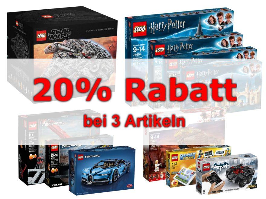 GALERIA Kaufhof - 20% Rabatt bei Kauf von 3 Artikeln | ©2018 Brickzeit
