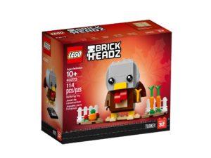 LEGO® Brickheadz™ Erntedank Truthahn 40273 - Packung Vorderseite | ©LEGO Gruppe