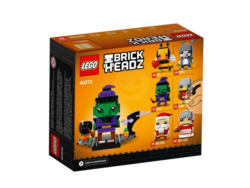 LEGO Brickheadz Halloween-Hexe 40272 - Packung Rückseite | ©LEGO Gruppe