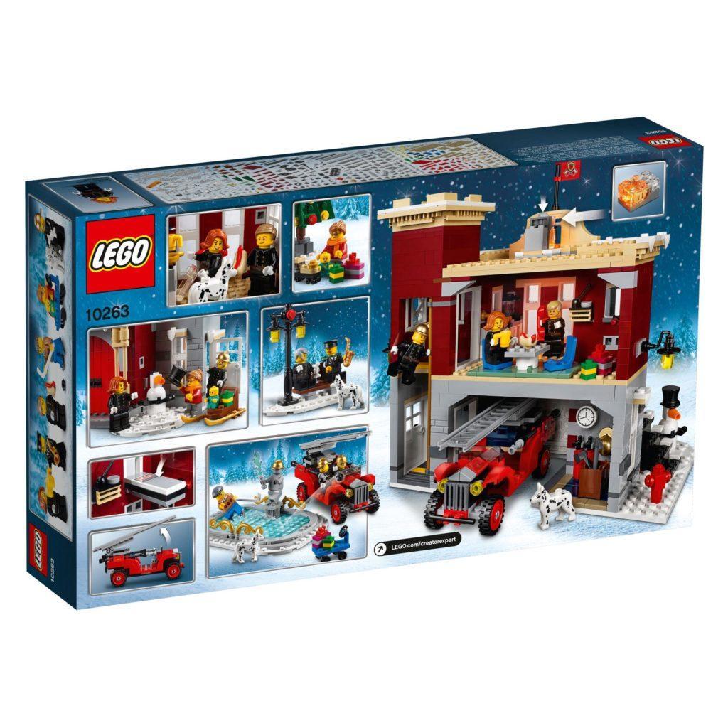LEGO® Creator Expert 10263 Winter Village Fire Station 10263 - Packung Rückseite | ©LEGO Gruppe