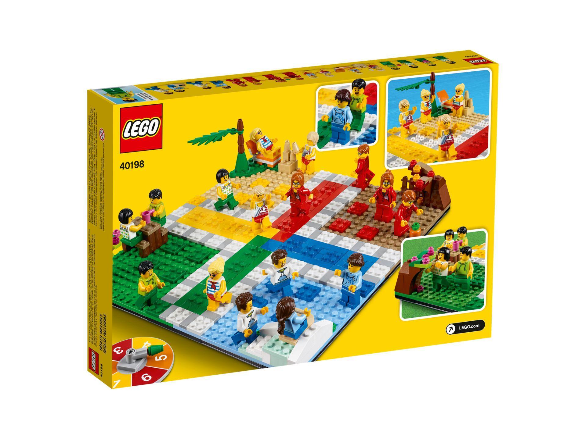 LEGO® Ludo-Spiel 40198 - Packung Rückseite | ©LEGO Gruppe