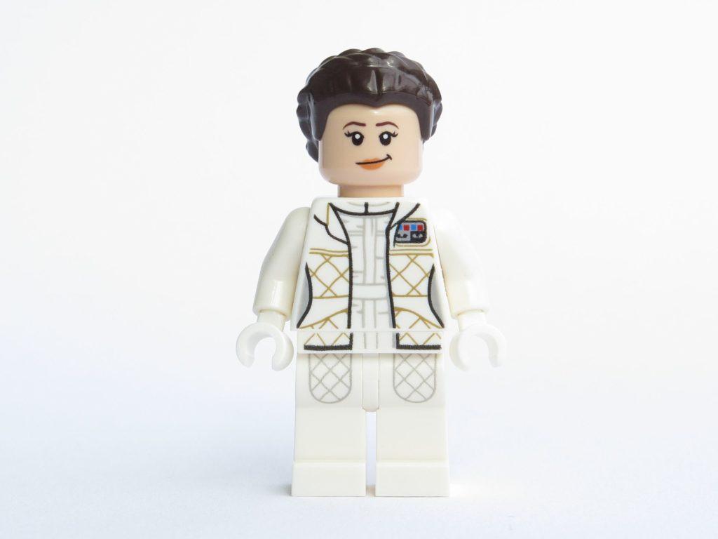 LEGO® Star Wars™ 75203 - Minifigur Prinzessin Leia Organa - Vorderseite, lächelndes Gesicht | ©2018 Brickzeit