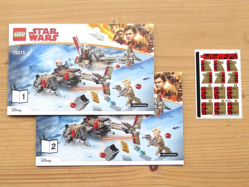 LEGO® Star Wars™ 75215 - Anleitungen und Aufkleber | ©2018 Brickzeit