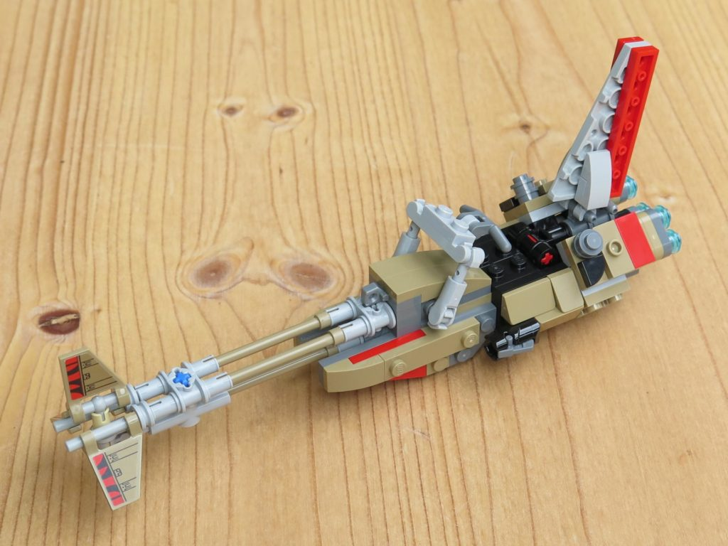 LEGO® Star Wars™ 75215 - Enfys Nest's Swoop Bike - links, vorne| ©2018 Brickzeit