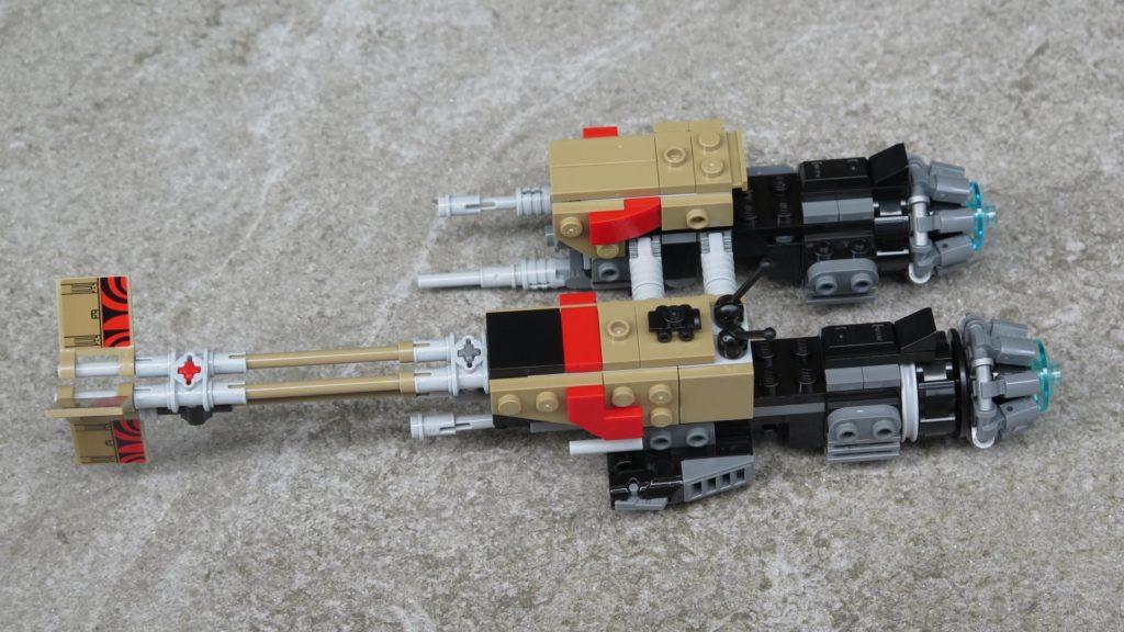 LEGO® Star Wars™ 75215 - Weazel's Swoop Bike auf Stein - linke Seite | ©2018 Brickzeit