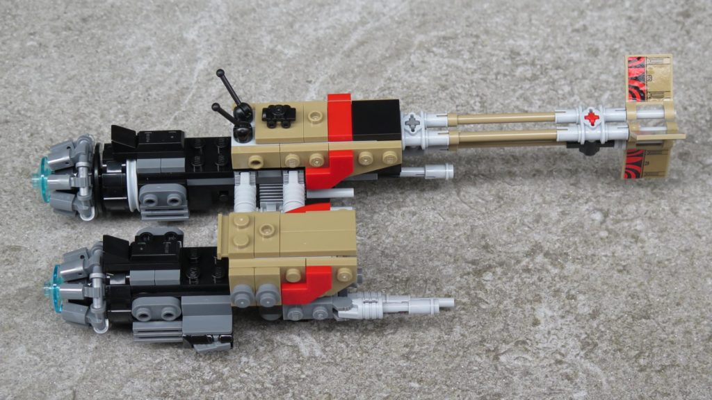 LEGO® Star Wars™ 75215 - Weazel's Swoop Bike auf Stein - rechte Seite | ©2018 Brickzeit