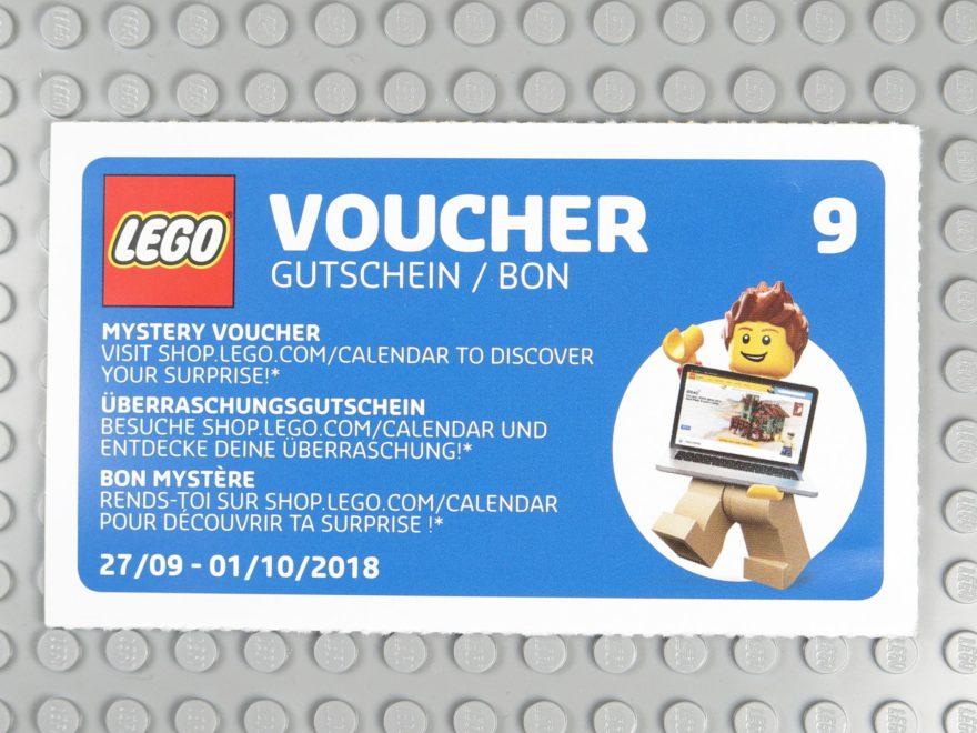 LEGO Wandkalender 2018 - Gutschein Nr. 9 | ©2018 Brickzeit