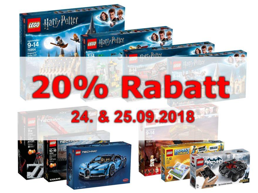 Thalia Rabattaktion 20% Prozent am 24. & 25.09.2018 | ©Brickzeit