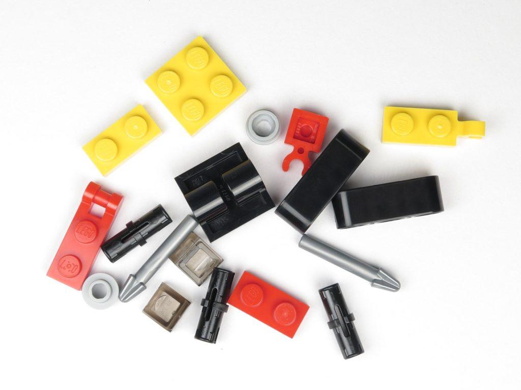 LEGO® City 60201 Adventskalender 2018 - Bagger mit Erdbohrer, Inhalt | ©2018 Brickzeit