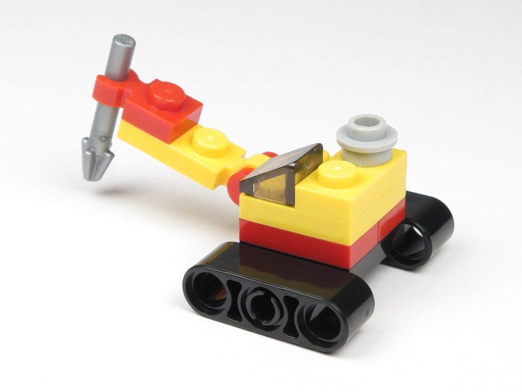 LEGO® City 60201 Adventskalender 2018 - Bagger mit Erdbohrer, Rückseite | ©2018 Brickzeit